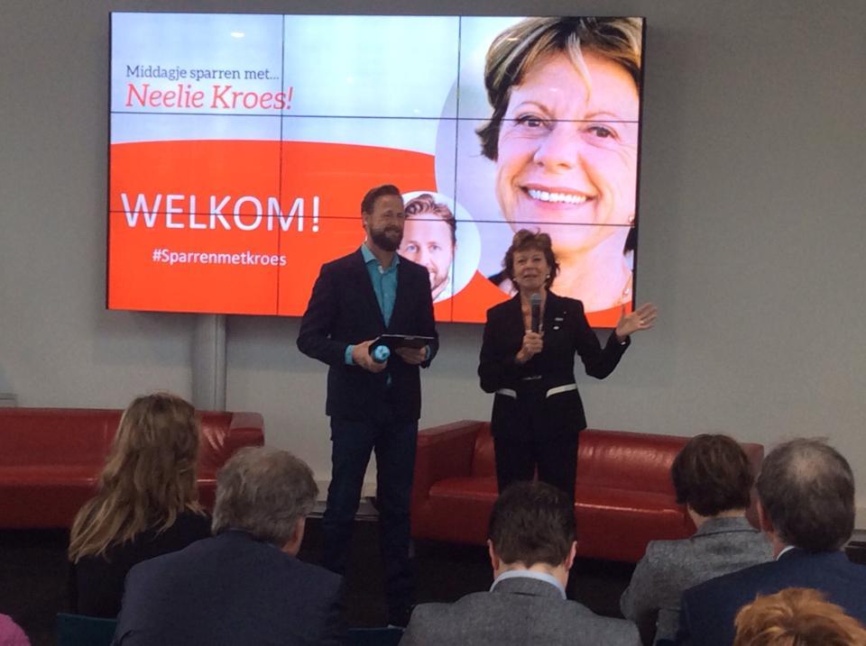 Social media 4 events - sparren met Neelie Kroes Startup Delta Jim Stolze