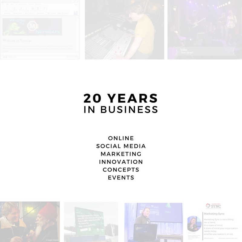 20 years in business - online marketing communication social media
